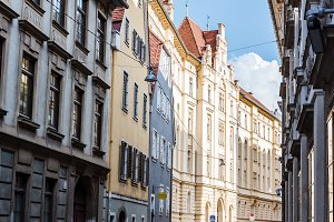Street in historical city center of Graz