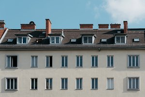 Low angle view of old buildings in Graz