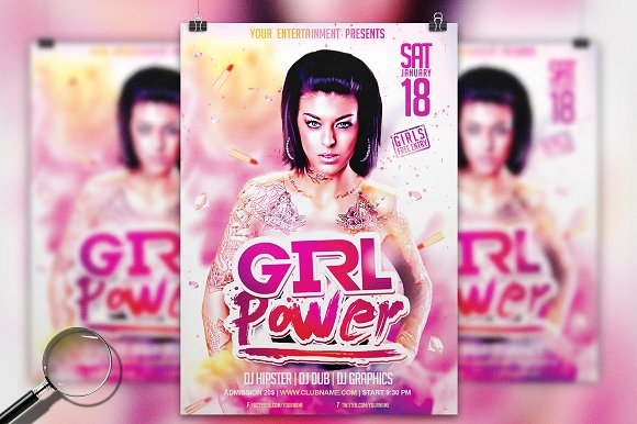 Girl Power Event Flyer Template