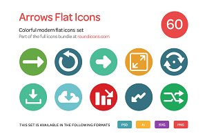 Arrows Flat Icon Set