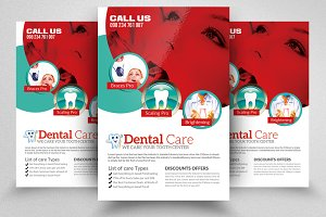 Dental Care PSD Flyer Template