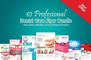 10 Dental Care Flyer Bundle Vol:01