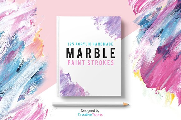 Marble Paint Strokes-Graphicriver中文最全的素材分享平台