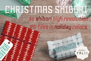 Christmas Shibori Patterns