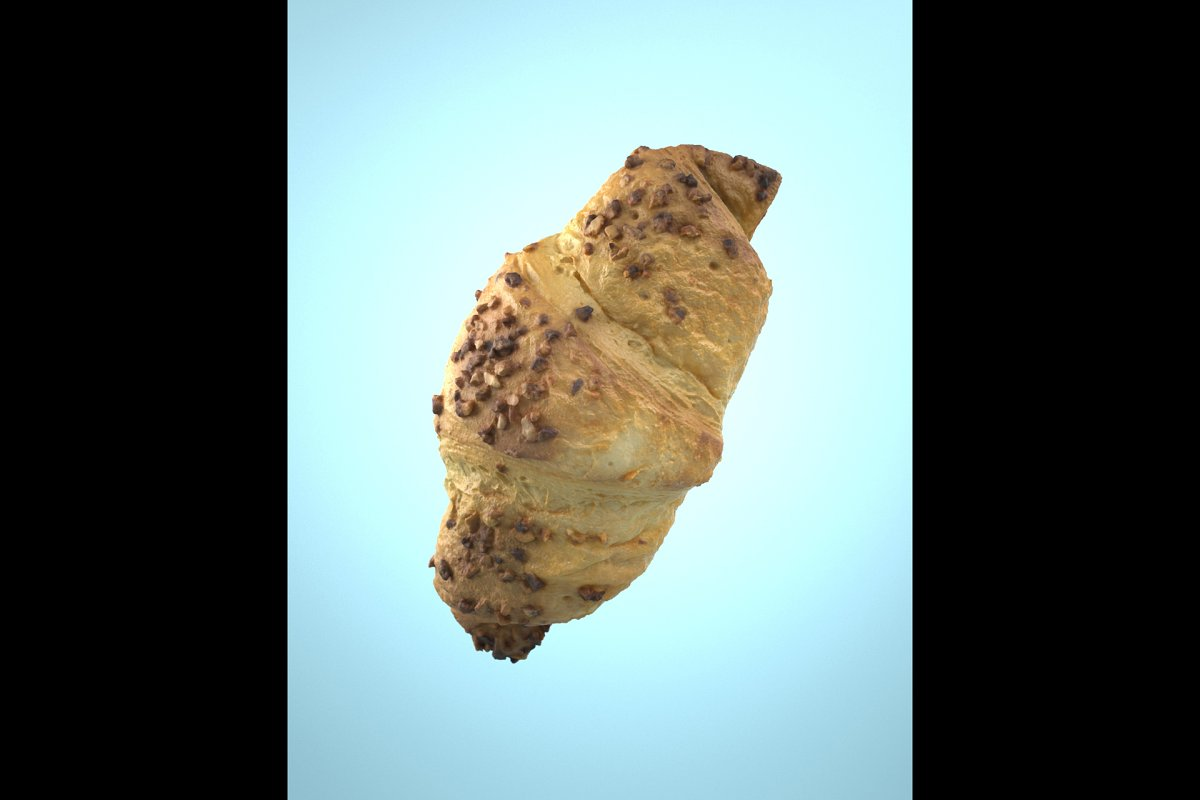 Photorealistic Chocolate Croissant