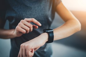 Fitness results on smartwatch