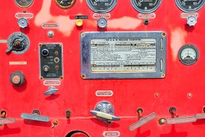 Fire truck equipment detail.