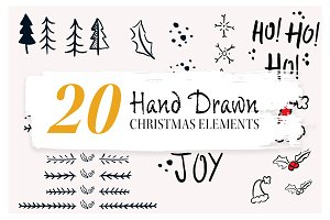 Brush Marker Christmas Set
