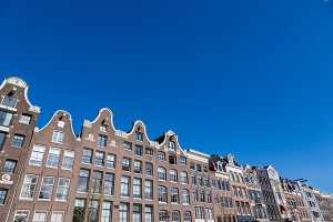 Historical Amsterdam canal houses