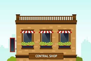 Shop facade illustration