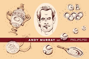 Andy Murray championship set