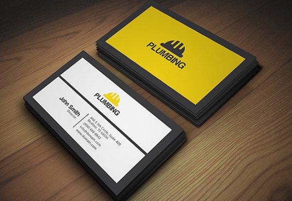 Plumbing business card business card templates creative market colourmoves