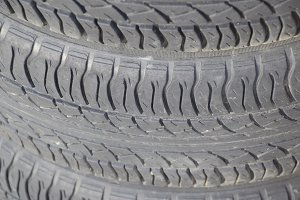 The background of the tread pattern