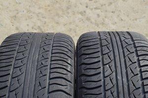 Automobile wheel. Rubber tires. Summ