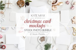 Christmas Holiday Card Mockup Bundle