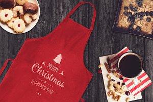 Christmas Apron Mock-up #5