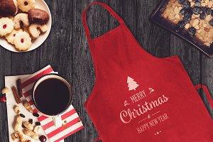 Christmas Apron Mock-up #6