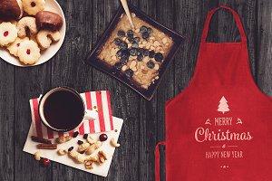 Christmas Apron Mock-up #7