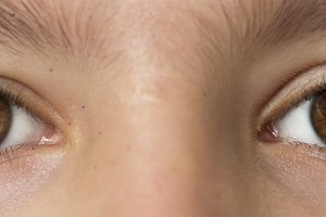Eyes of a 10-year-old girl photograp