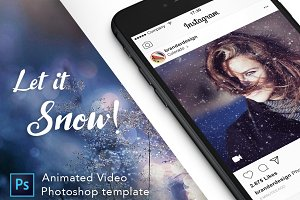 Animated Video - Snow PSD Template