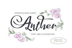 Anther Font + Free Illustration