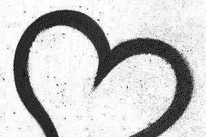 Black grunge heart