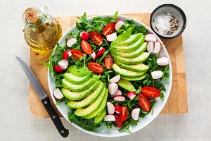 healthy fresh vegetarian salad from