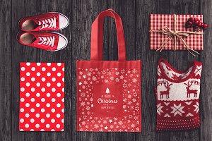 Christmas Bag Mock-up #1