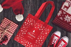 Christmas Bag Mock-up #2