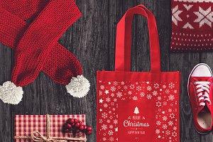 Christmas Bag Mock-up #3