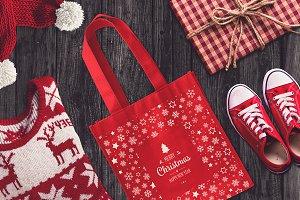 Christmas Bag Mock-up #4