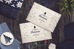 Christmas Card Mock-up #3