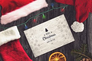 Christmas Card Mock-up #10