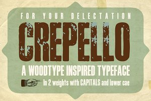 Crepello Woodblock Font