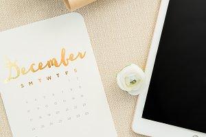 Holiday Calendar/Tablet Mock-Up