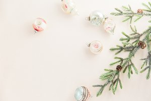 Vintage Bauble + Greenery Stock