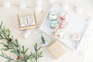 Holiday Flat Lay Stock Image