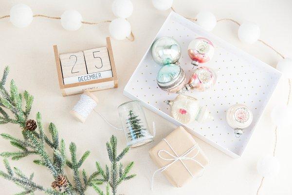 Holiday Flat Lay Stock Image