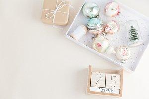 Pastel Christmas Stock Image