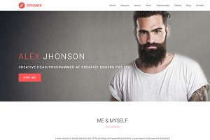 Designer - OnePage WordPress Theme