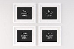 Set of 4 poster frame mock-up 8x10""