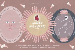 Human Body Parts Clipart