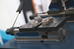 Part for machine processing of metal, industrial background
