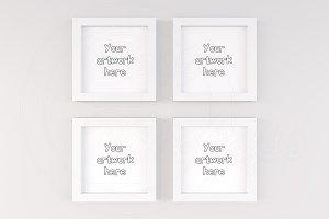 4 art print mockup frames template
