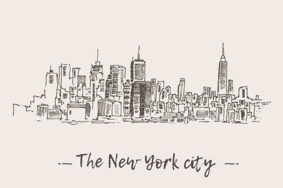 New York City Skyline Drawings