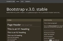 Bootstrap 3.0.v. theme Flat Brown