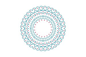 Christmas Pattern Circle on Vector Illustration