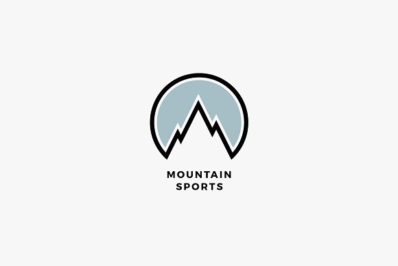 mountain sports logo template logo templates creative market