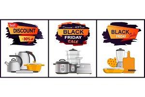Black Friday Best Sale Advert Vector Illustration