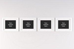 Landscape mockups simple frame 20x16